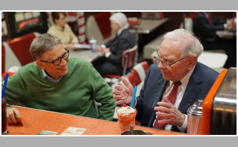 Happy 90th, Warren! Birthday with from Bill Gates
