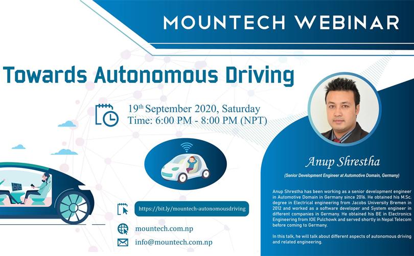 Mountech webinar on autonomous driving