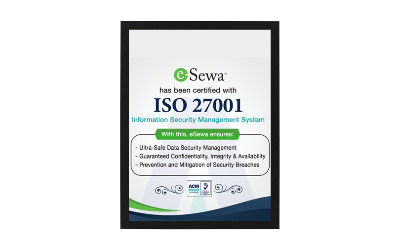 iso 27001 certificate to esewa