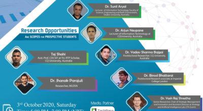 webinar on research opportunity in IT