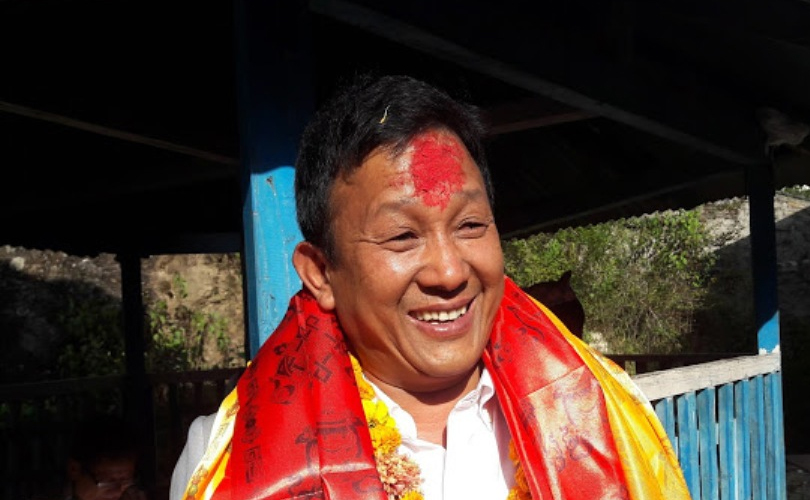 Parbat Gurung as a minister of communication and information technology