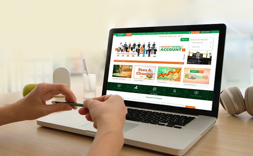 how to open online account at Century Bank