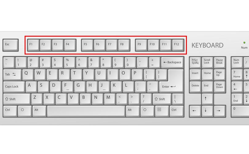 Keyboard all function key