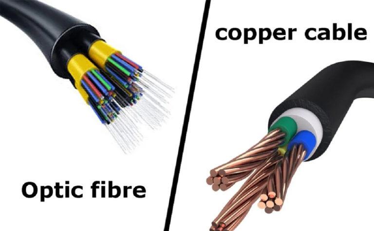 fiber optic vs copper wire