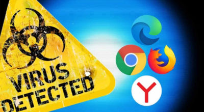 Adrozek malware detected on web browser