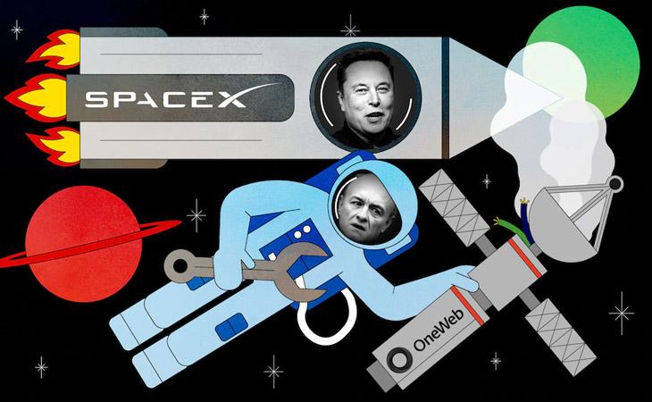 Spacex-oneweb-satellite-internet-techpana