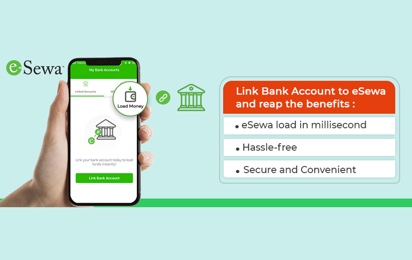 how to link bank account with esewa ?