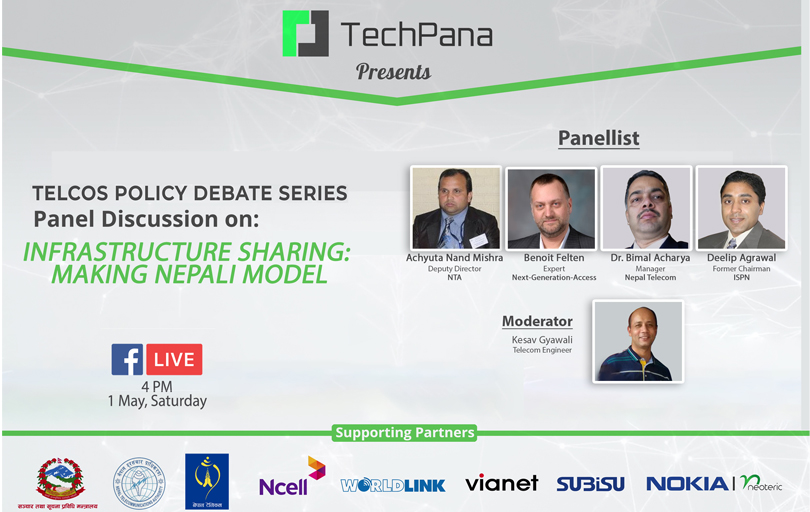 Infrastructure sharing in telecom and internet context of nepal techpana policy debate